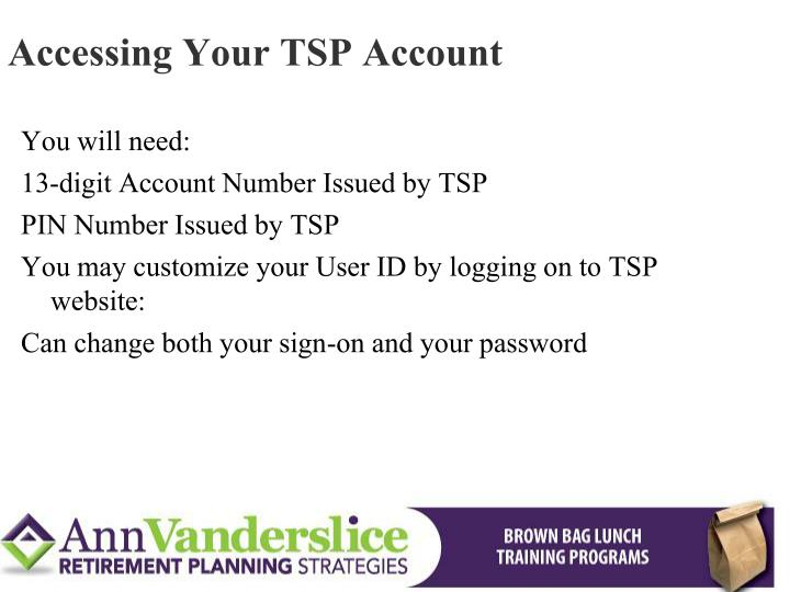 Accessing Your TSP Account