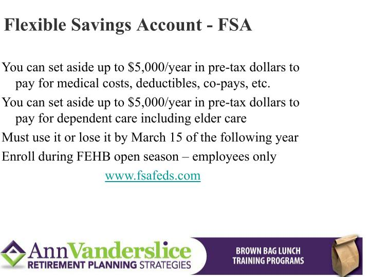 Flexible Savings Account - FSA