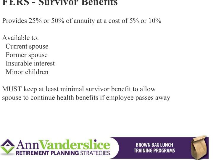 FERS - Survivor Benefits