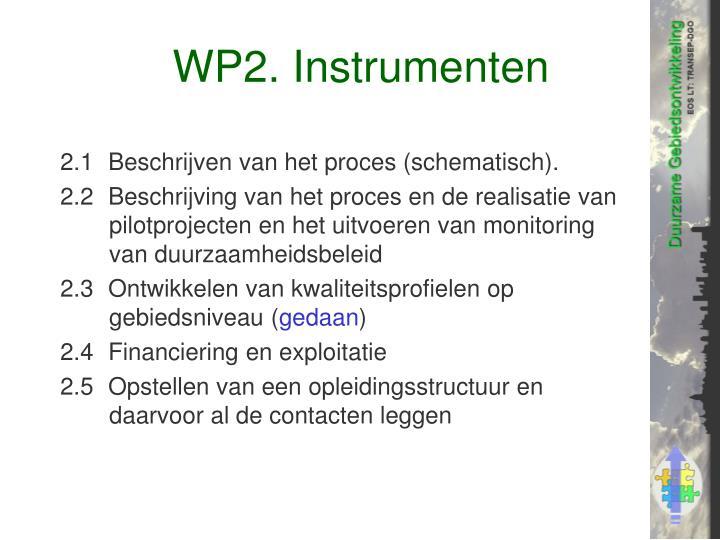 WP2. Instrumenten