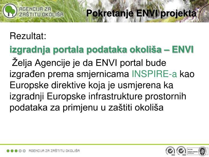 Pokretanje ENVI projekta
