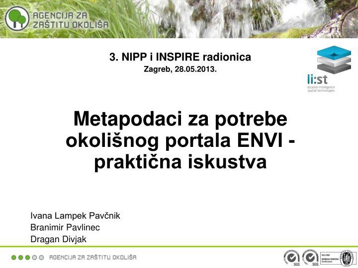 3. NIPP i INSPIRE radionica