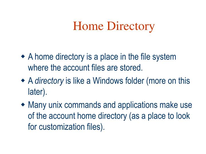 Home Directory