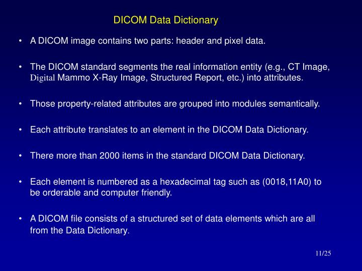 DICOM Data Dictionary