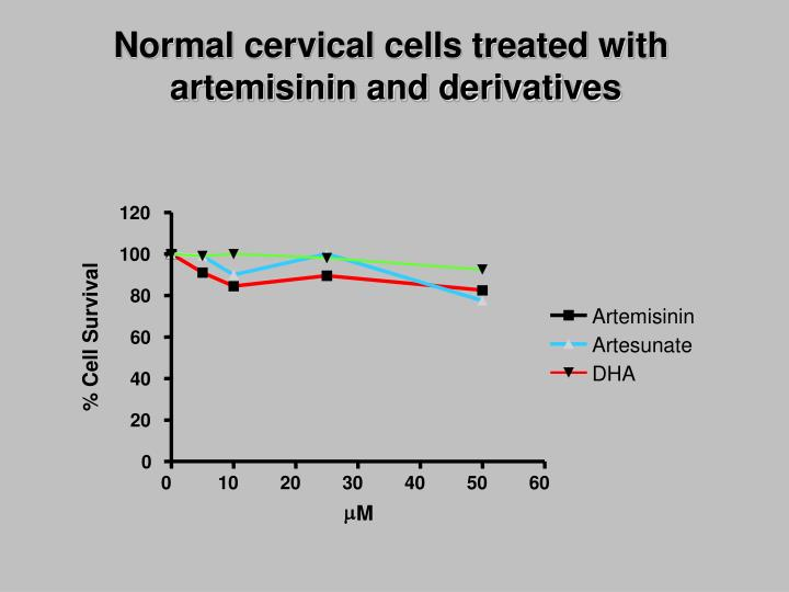 Normal cervical cells treated with