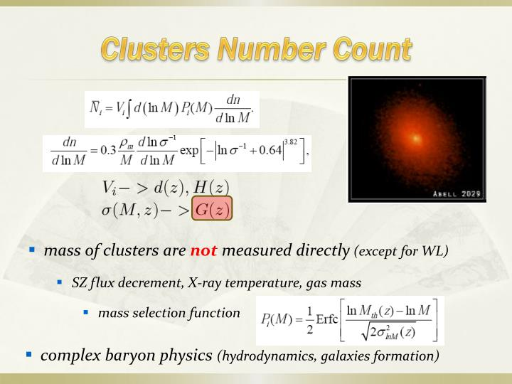 Clusters Number Count