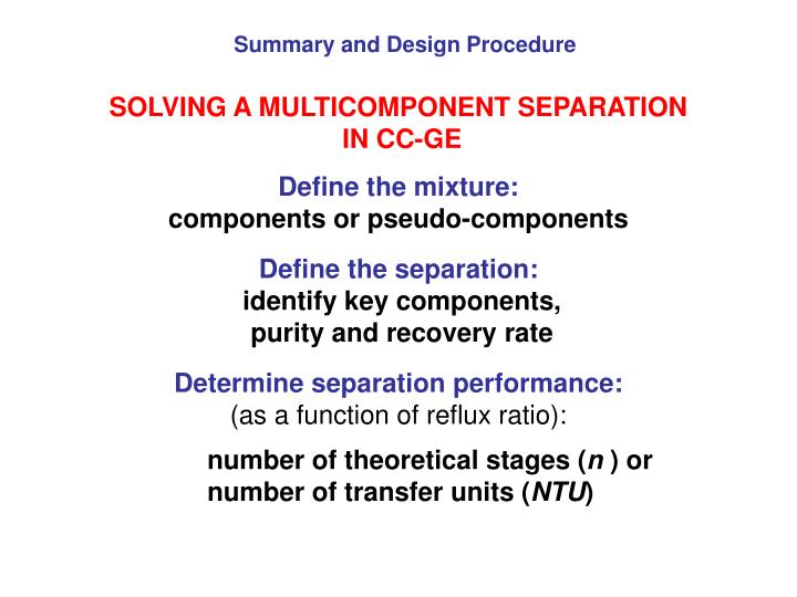 Summary and Design Procedure