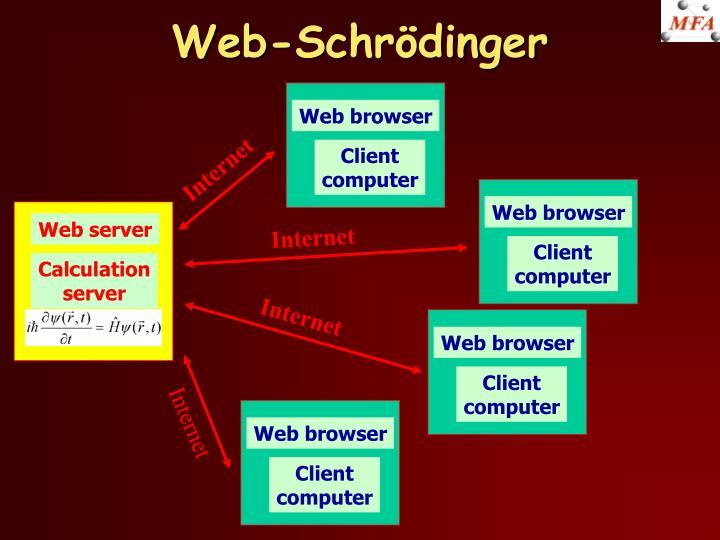 Web-Schrödinger
