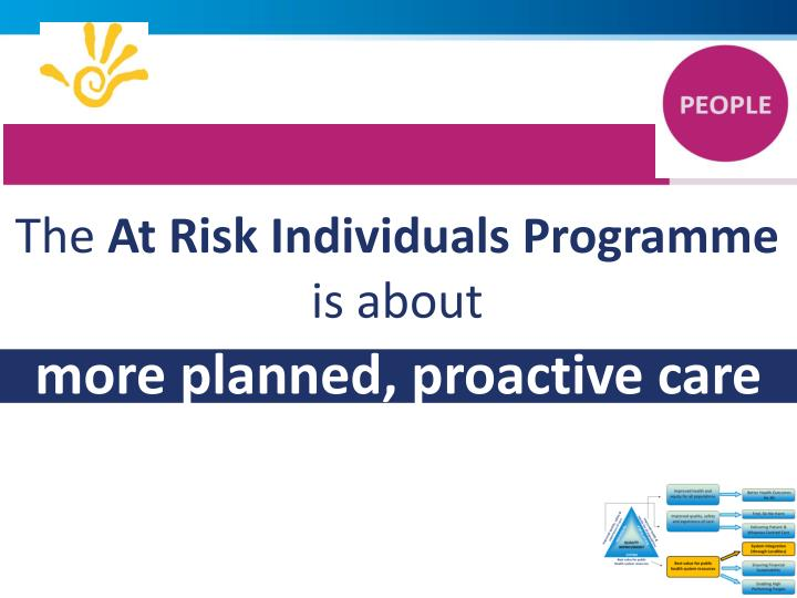 1.       AT RISK INDIVIDUALS PROGRAMME