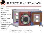 heat exchangers fans