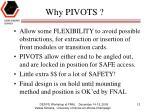 why pivots