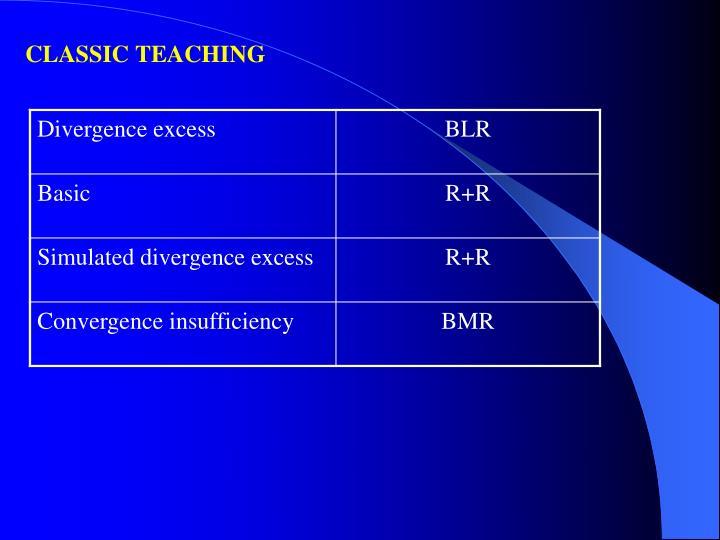 CLASSIC TEACHING
