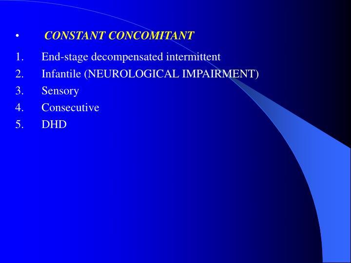 CONSTANT CONCOMITANT