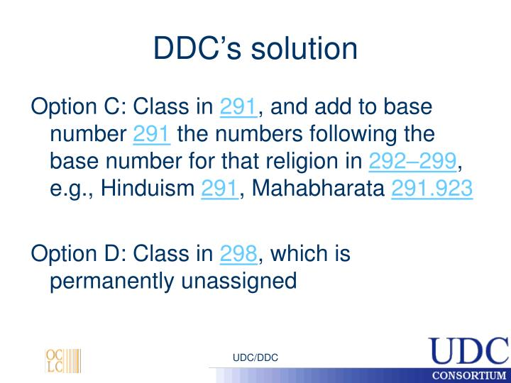 DDC's solution