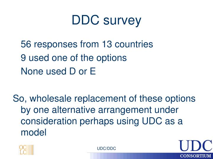 DDC survey