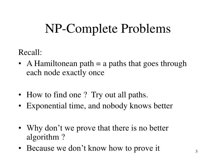 Np complete problems