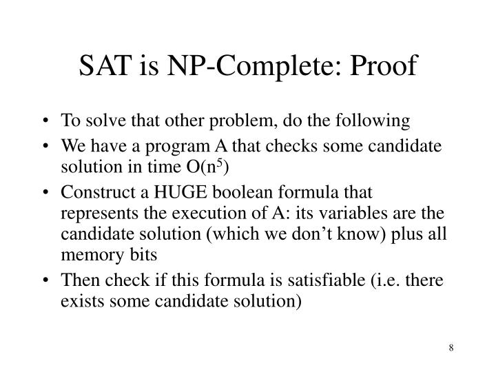 SAT is NP-Complete: Proof