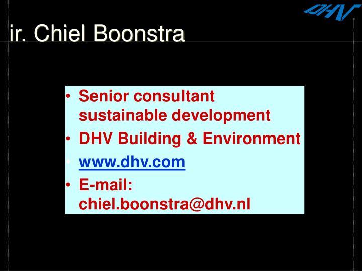ir. Chiel Boonstra
