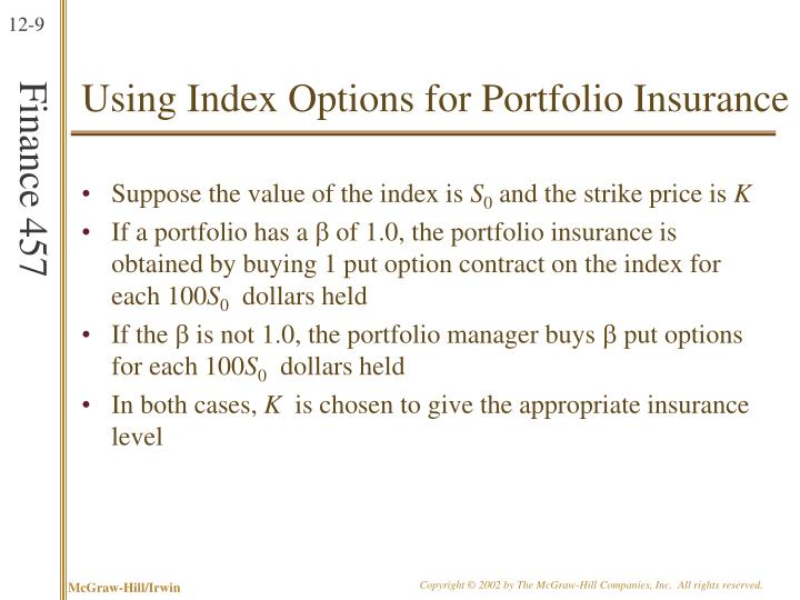 Using Index Options for Portfolio Insurance
