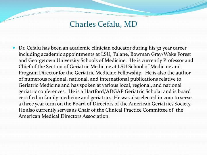 Charles Cefalu, MD