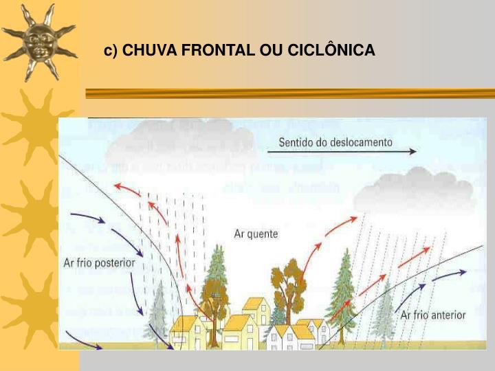 c) CHUVA FRONTAL OU CICLÔNICA