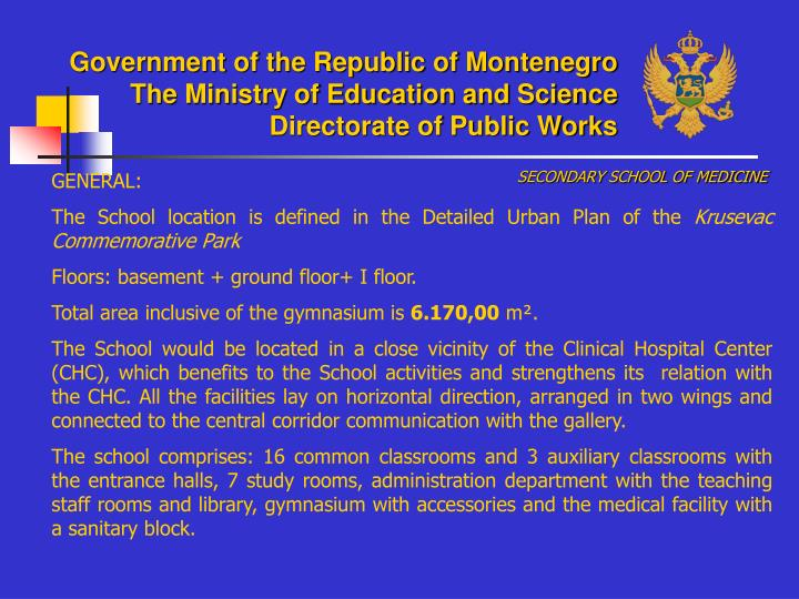 Government of the Republic of Montenegro