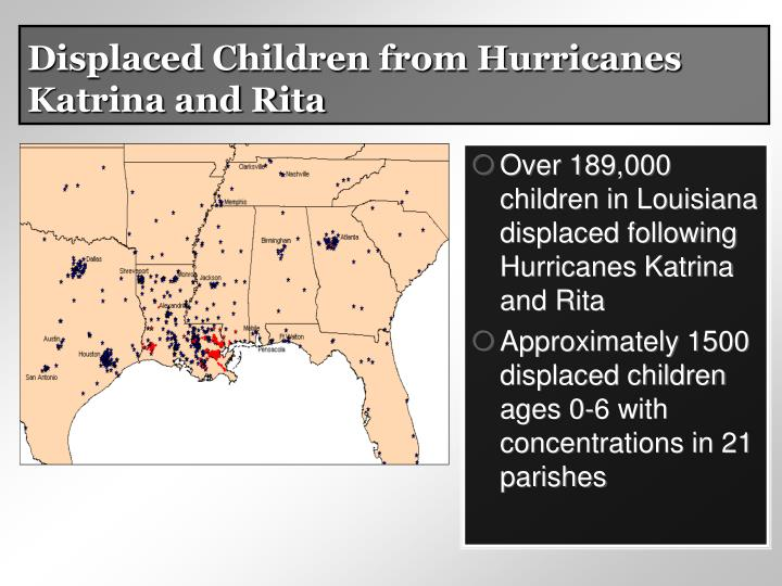 Displaced Children from Hurricanes Katrina and Rita
