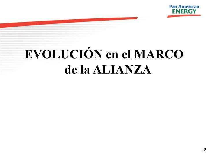 EVOLUCIÓN en el MARCO de la ALIANZA