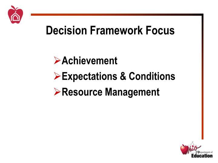 Decision Framework Focus