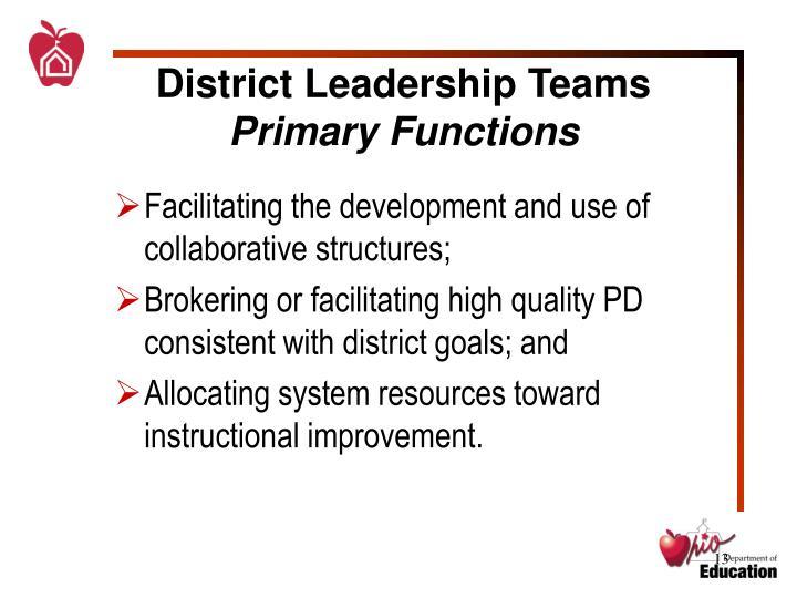 District Leadership Teams