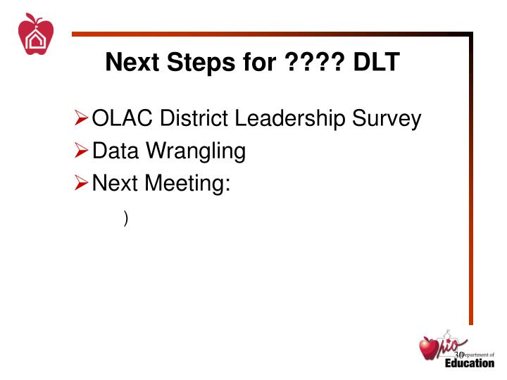 Next Steps for ???? DLT
