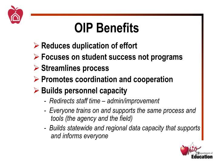 OIP Benefits