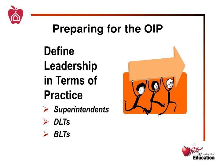 Define Leadership in Terms of Practice