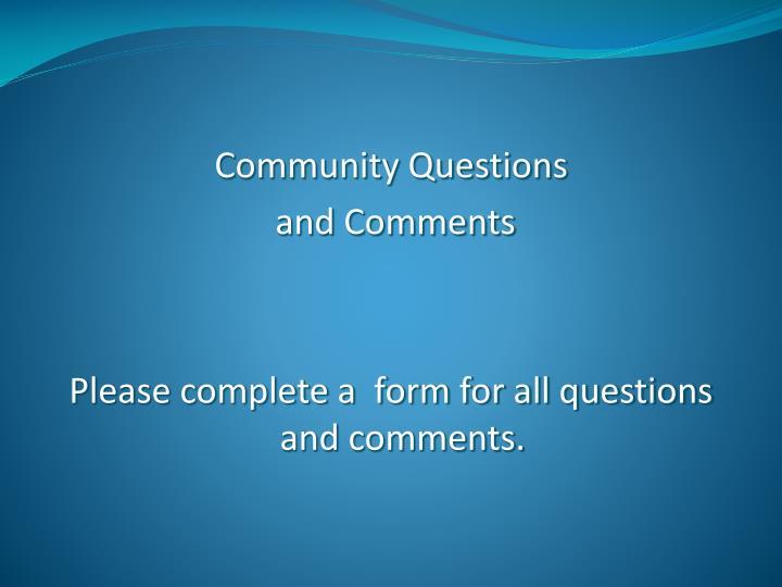 Community Questions