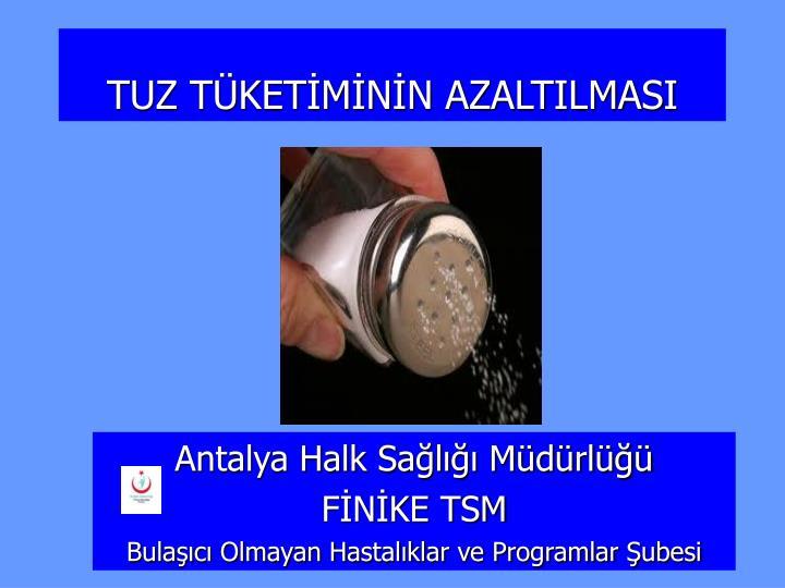 Antalya Halk Sağlığı Müdürlüğü