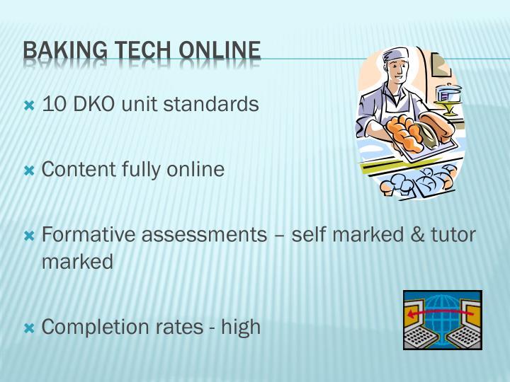 10 DKO unit standards