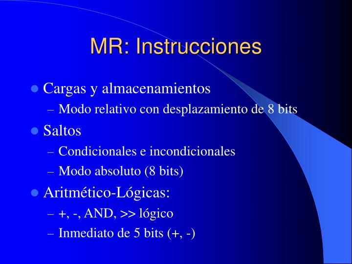 MR: Instrucciones