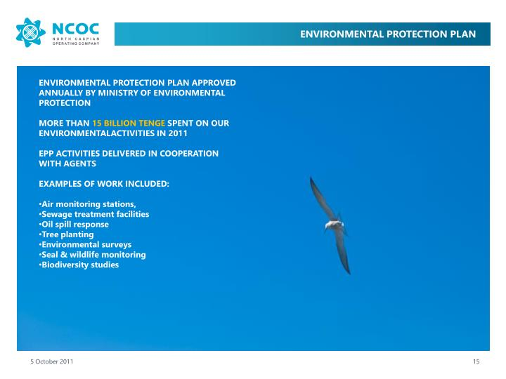 ENVIRONMENTAL PROTECTION PLAN