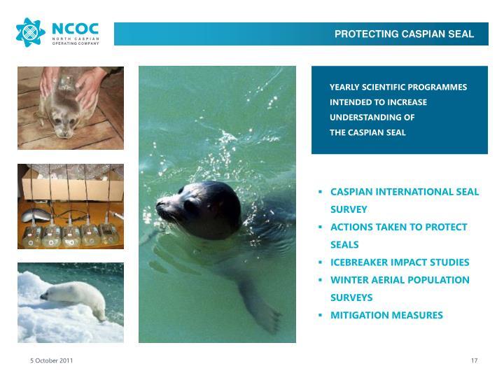 PROTECTING CASPIAN SEAL