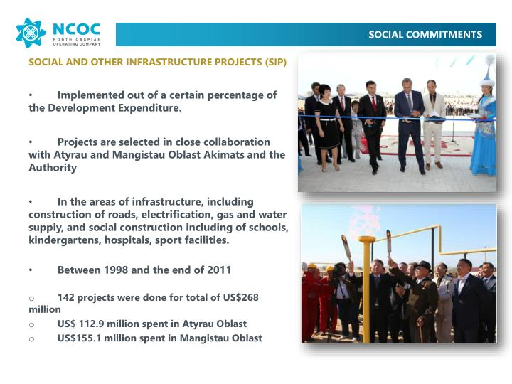 SOCIAL AND OTHER INFRASTRUCTURE PROJECTS (SIP)