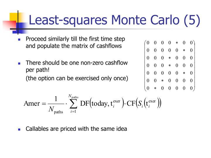 Least-squares Monte Carlo (5)