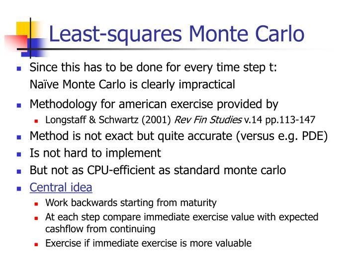 Least-squares Monte Carlo