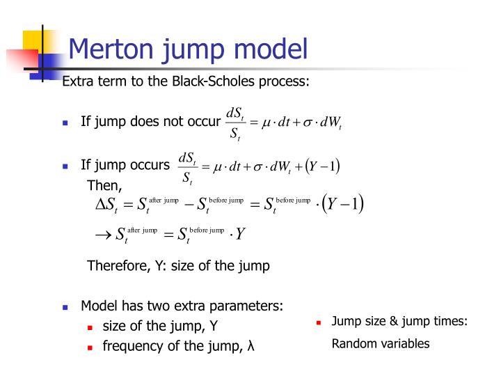 Merton jump model