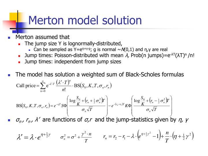 Merton model solution