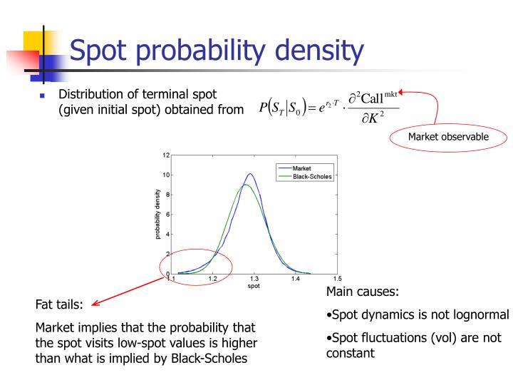 Spot probability density