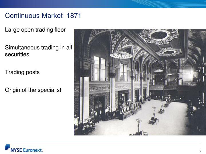 Continuous Market  1871