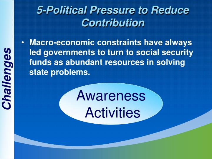 5-Political Pressure to Reduce Contribution
