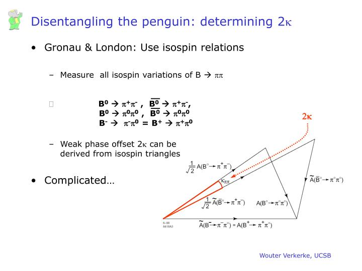 Disentangling the penguin: determining 2