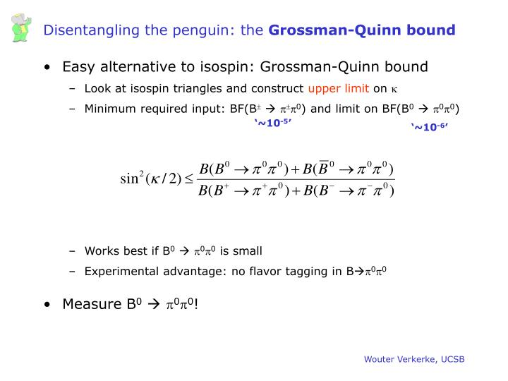 Disentangling the penguin: the