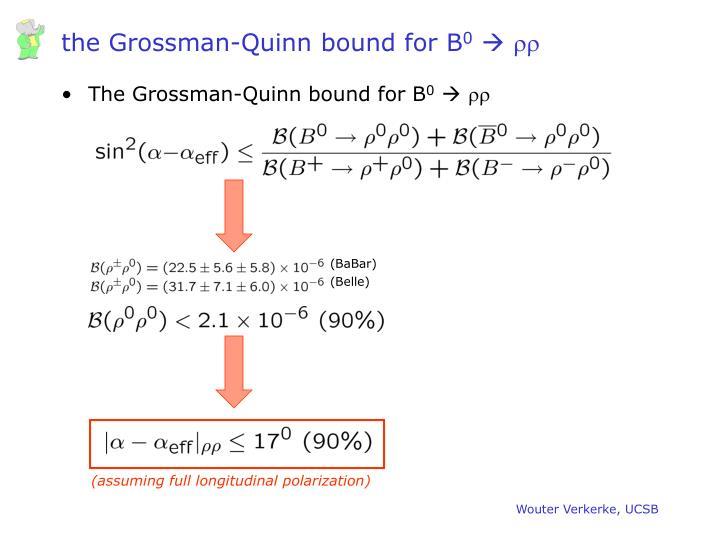 the Grossman-Quinn bound for B